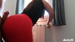beautiful girl rubs and grinds stepbro cock until cumshot ( the best ASSJOB)
