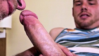 Draining Ginger Cum – Swallowing a Load from Evan Parks