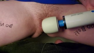 Submissive Trans guy edging - orgasm denial day 6 - numbing cream on clit