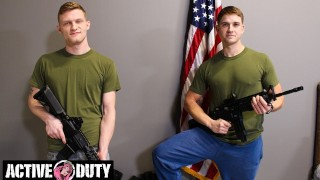 ActiveDuty - Young Military Studs Bareback Flip Flop