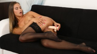Sexy In Stockings Naomi Benet Loves Her Dildo