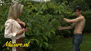 Sexy MILF Gets Her Ass Fucked Hard By The Gardener