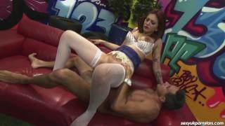 Sexy Mai Bailey is the Cock Inspector