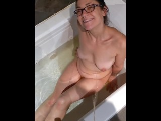 nice long pissing on naked petite pixie slut