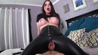 Kinky step-sister in law ties me up and rides me until I nut deep inside of her! - Amiee Cambridge