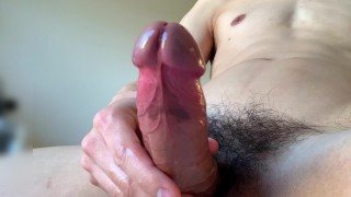#60 A boy with a beautiful body who huge cumshot vigorously from a juicy big cock