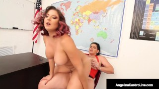 Thick Dicked Divas Angelina Castro & Gia Love Pussy Fuck!