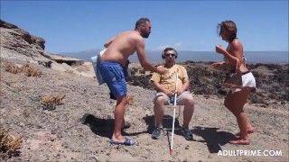 Anal sex on the beach