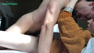 warm me up with a missionary creampie - amateur babe AmberWinters
