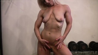 Mature blonde Genie puts everything out there on display tits pussy