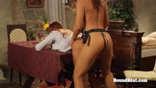 Hot Lesbian Big Ass Girl Orgasms From Deep Strapon Sex