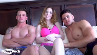Channing Dominates Adam And Nala With His BBC!