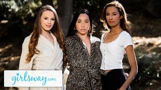 Girlsway Squirting Summer Threesome With Karlee Grey & Jillian Janson
