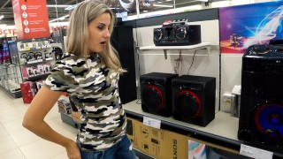 Sound controlled vibrator in public place - Lovense Lush 2 unusual test | Letty Black