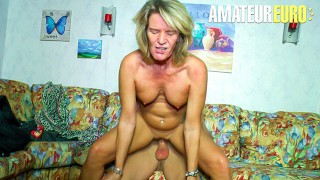 XXXOmas - Slutty German Granny Gets Her Pierced Pussy Fucked By Young Stud - AMATEUREURO