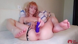 Cute elf satisfying her little pussy