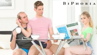 BiPhoria - Couple's Bisexual Fantasy Shows Up In Backyard