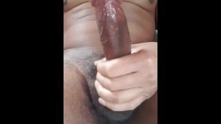 DIRTY TALKING Orgasm jerking off my big black cock