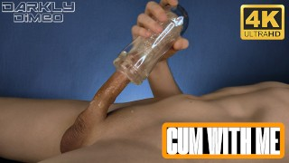 Solo guy intens fuck flashlight asmr moans from with orgasms thick Creamy cum - Darkly Dimeo - 4 K