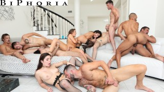 BiPhoria - Anything Goes At Couple's First Bisexual Orgy Party