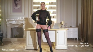 Your Boss - Hight heels and mini skirt