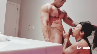 Ise_mah,  fucking the brunette in the motel, cumming allover her tits
