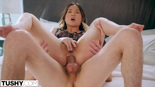 TUSHY Petite Lulu gets some anal discipline by her boss