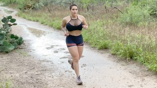 Rough Deep Anal Fuck after 5 miles trail run in a rainy day