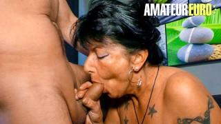 XXXOmas - Big Tits German Mature Hardcore Pounding With Newbie Guy - AMATEUREURO