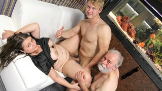 Old Perv wants to cuckold his busty wife