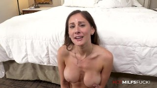 Hot MILF Takes Cock In Her Ass In The First Anal Casting Video For Ally Cooper