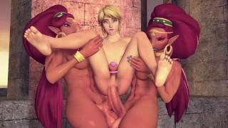 Link is Zelda's Futa Sex Slave