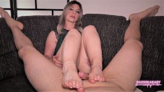 Wet and Leg Shaking Footjob While Wearing My New Anklet