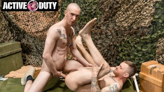 Ryan Jordan Fucks And Gets Fucked By New Recruit - Active Duty
