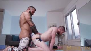 MASQULIN Hunky Markus Kage Barebacks Gay Jock Thyle Knoxx