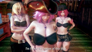 Monster realm 2 : Pirate and the beast under the sea [3D] [Honey select]
