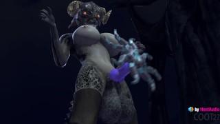 Argonian Futa vs Unusual Stone (with sound) Skyrim 3d animation hentai anime blowjob cum in mouth