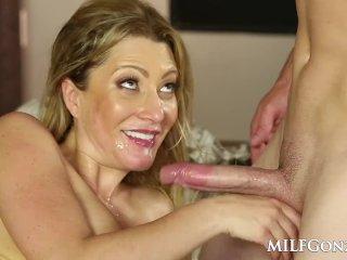 MILFGonzo Hot blonde Jennifer Best fucking her step son