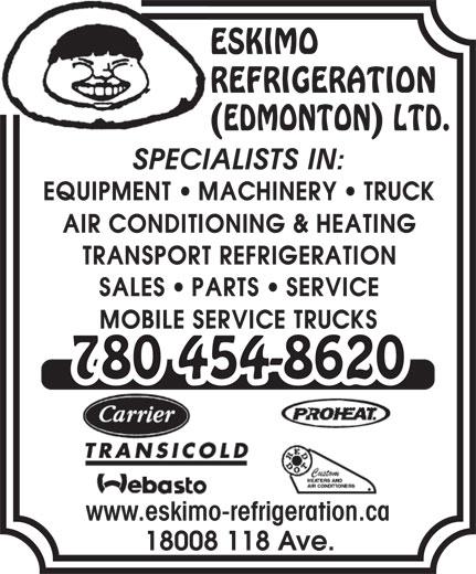 Refrigeration: Eskimo Refrigeration Edmonton
