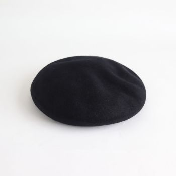 COMESANDGOES | カムズアンドゴーズ [ BIG BASQUE BERET #BLACK [NO.15576] ]