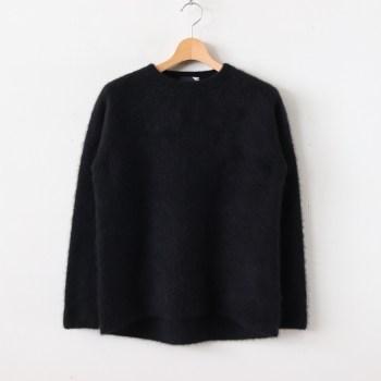 ATON | エイトン [ FUR CASHMERE CREWNECK SWEATER #BLACK [KRAGKW0901] ]