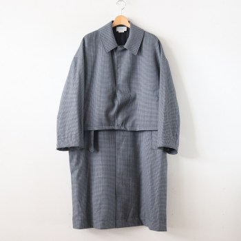 YOKE | ヨーク [ FIVE COLORS PLAID WOOL 3WAY BAL COLLAR SHARE COAT #GREY PLAID [YK19AW0046C] ]