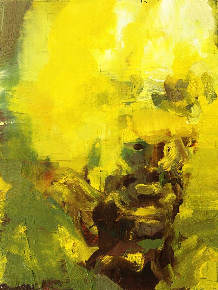 Tronie - Yellow Man Oil on canvas , 12 x 9 inches