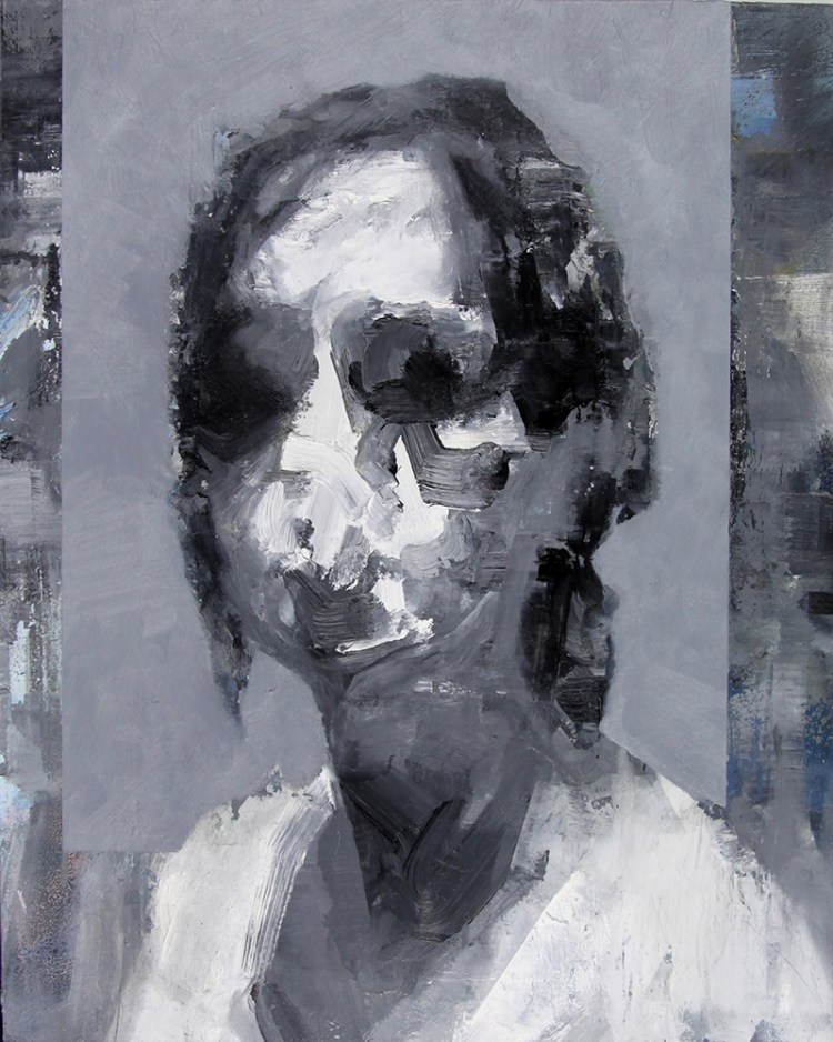 Tronie - Head of a Woman , oil on board , 20 x 16 inches