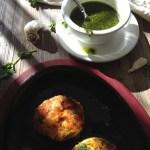 Shrimp Polenta Cakes with Chimichurri Sauce