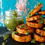 Baked Sweet Potato Rounds with Chimichurri Sauce Recipe