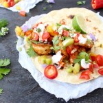 Mexican Shrimp Tacos with Salsa Fresca and Crema