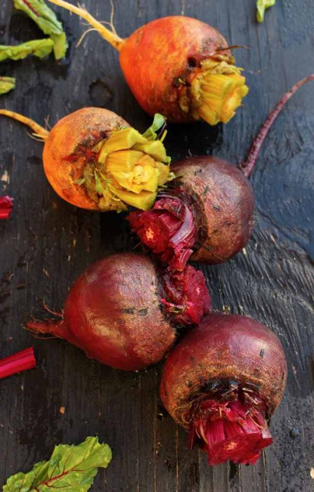 How to roast golden and red beets in the oven