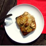 Mushroom and truffle oil rarebit