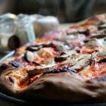 Truffled portabella mushroom pizza
